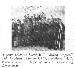 Day visit to British Progress, 1956